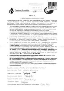 Petycja kosmetologów